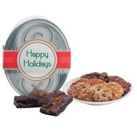 Happy Holidays! Silver Oval Gluten Free Gift Tin