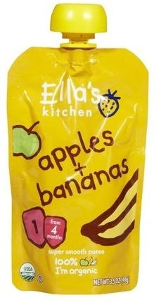 Ella's Kitchen Organic Baby Food - Apple & Banana, 3.5 Oz (6 Pouches)