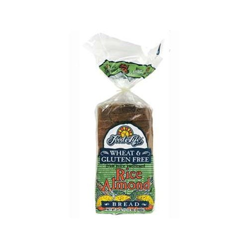 Food For Life - Rice Almond Bread, 24 Oz Loaf (Case of 6)