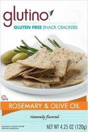 Glutino Snack Crackers, Rosmarie Olive Oil