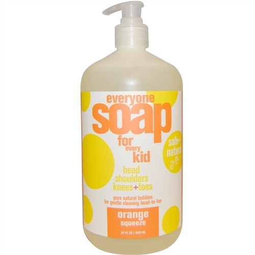 EO® Everyone 3-in-1 Botanical Soap for Kids, Orange Squeeze - 32 fl oz