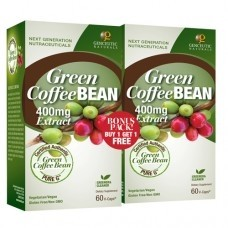 Genceutic Naturals Green Coffee Bean Extract, 400 mg , 60 Vcaps [2 Pack]