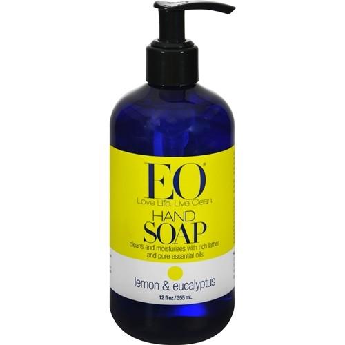 EO® Botanical Liquid Hand Soap, Lemon and Eucalyptus - 12 Ounces