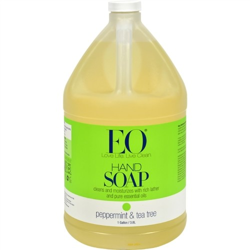 EO® Botanical Peppermint & Tea Tree Liquid Hand Soap Gallon, 128 Oz