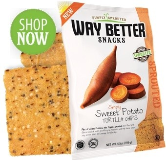 Way Better Snacks, Super Kosher Sweet Potato Tortilla Chips Snack Size