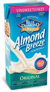Almond Breeze, Original Unsweetened, 64 Oz