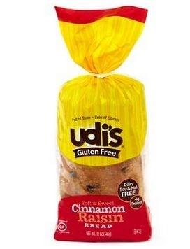 Udi's Gluten Free Cinnamon Raisin Bread