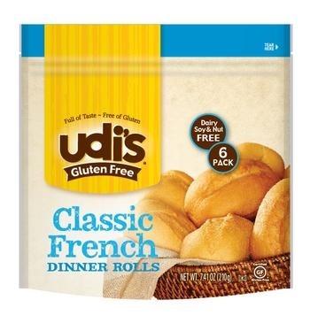 Udi's Gluten Free Classic Dinner Rolls
