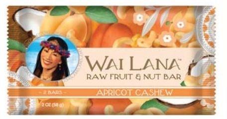 Wai Lana Raw Fruit & Nut Bar, Apricot Cashew