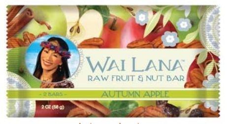 Wai Lana Raw Fruit & Nut Bar, Autumn Apple