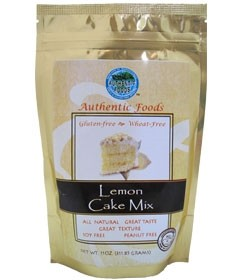 Authentic Foods Gluten Free Lemon Cake Mix, 11 Ounce
