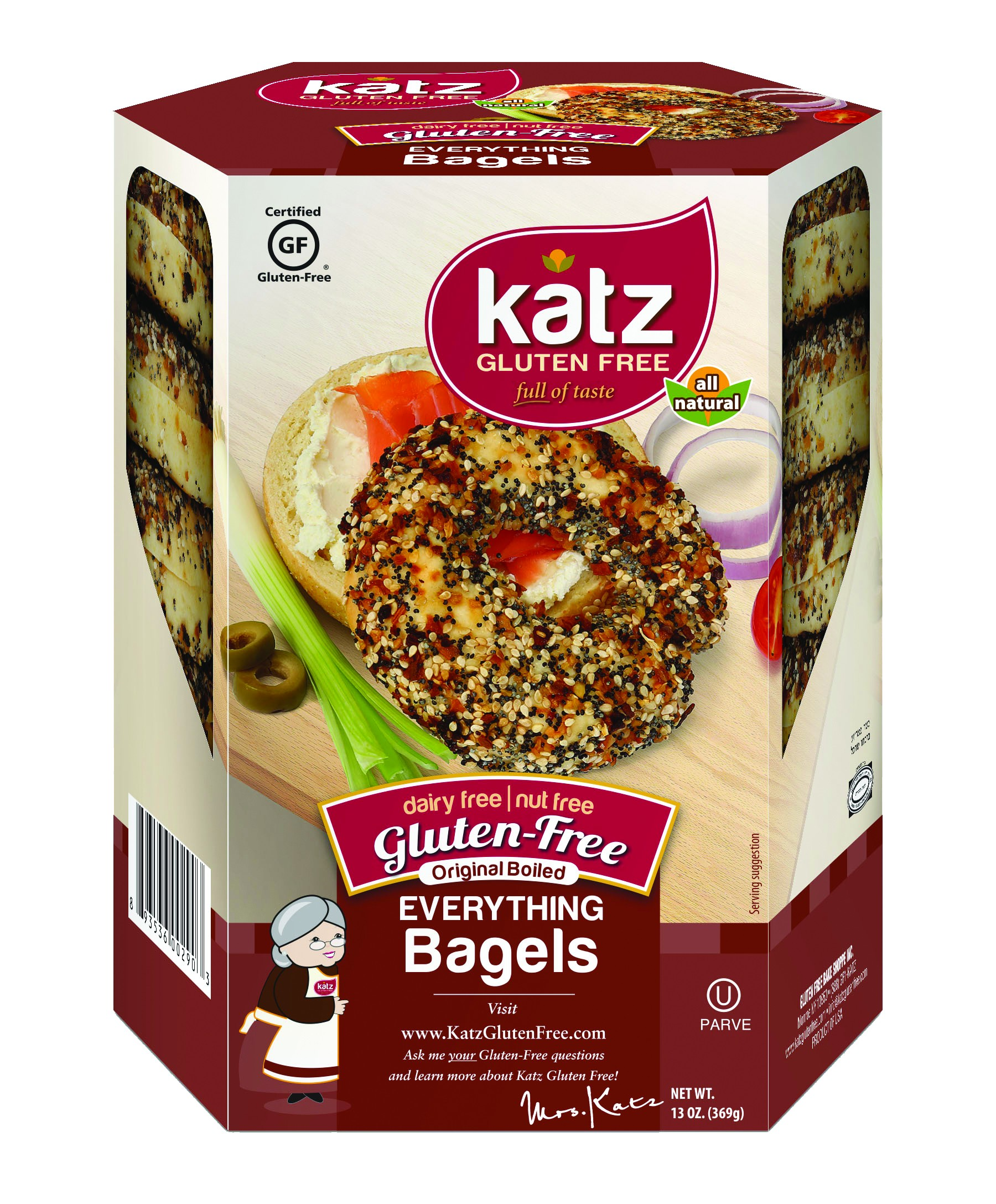 Katz Gluten Free Everything Bagels (Case of 6)