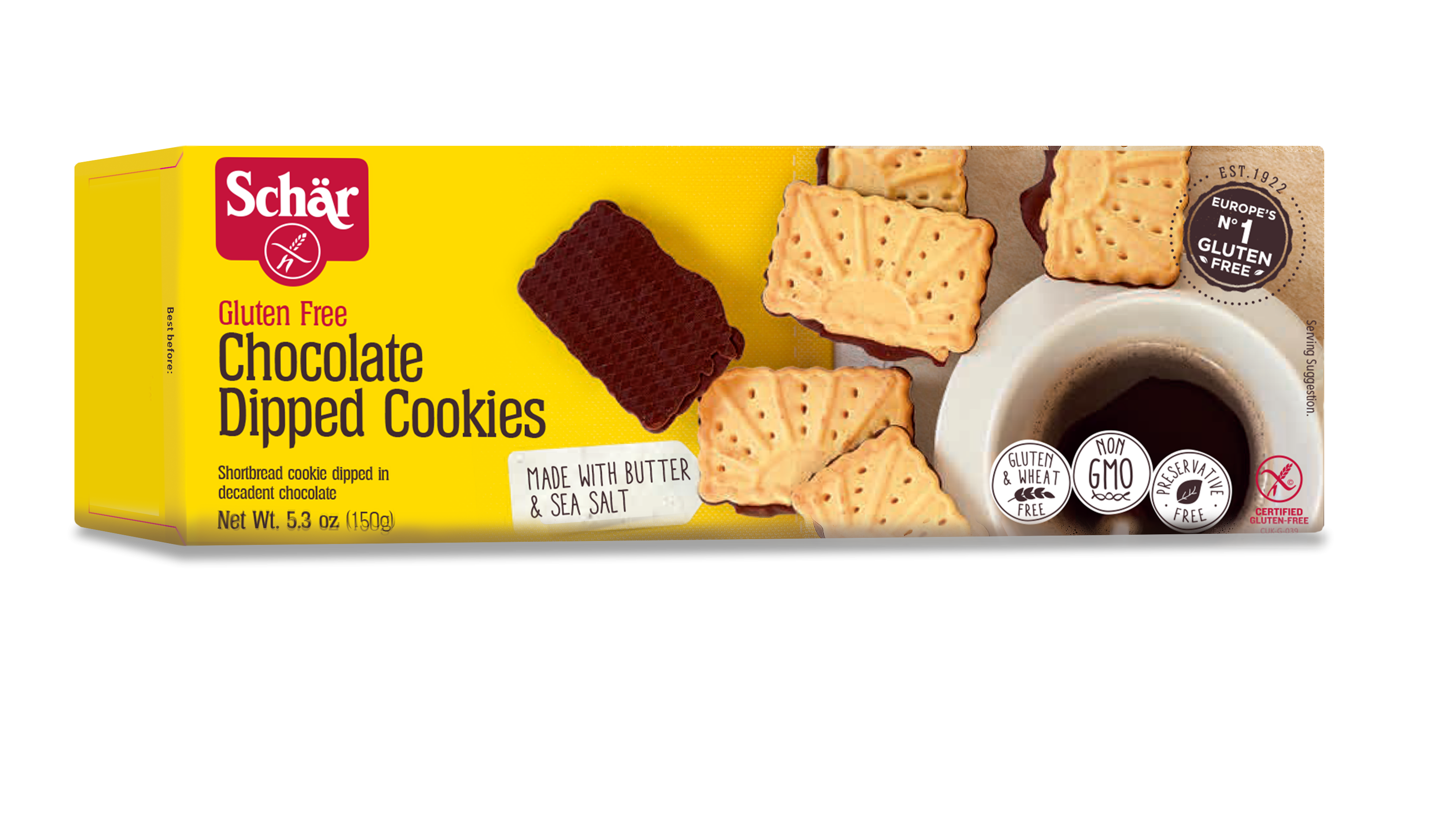 Schar Gluten Free Chocolate Dipped Cookies