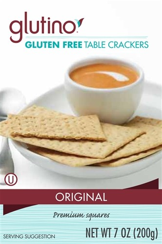 Glutino Gluten Free Table Crackers, 7 0z (6 Pack)