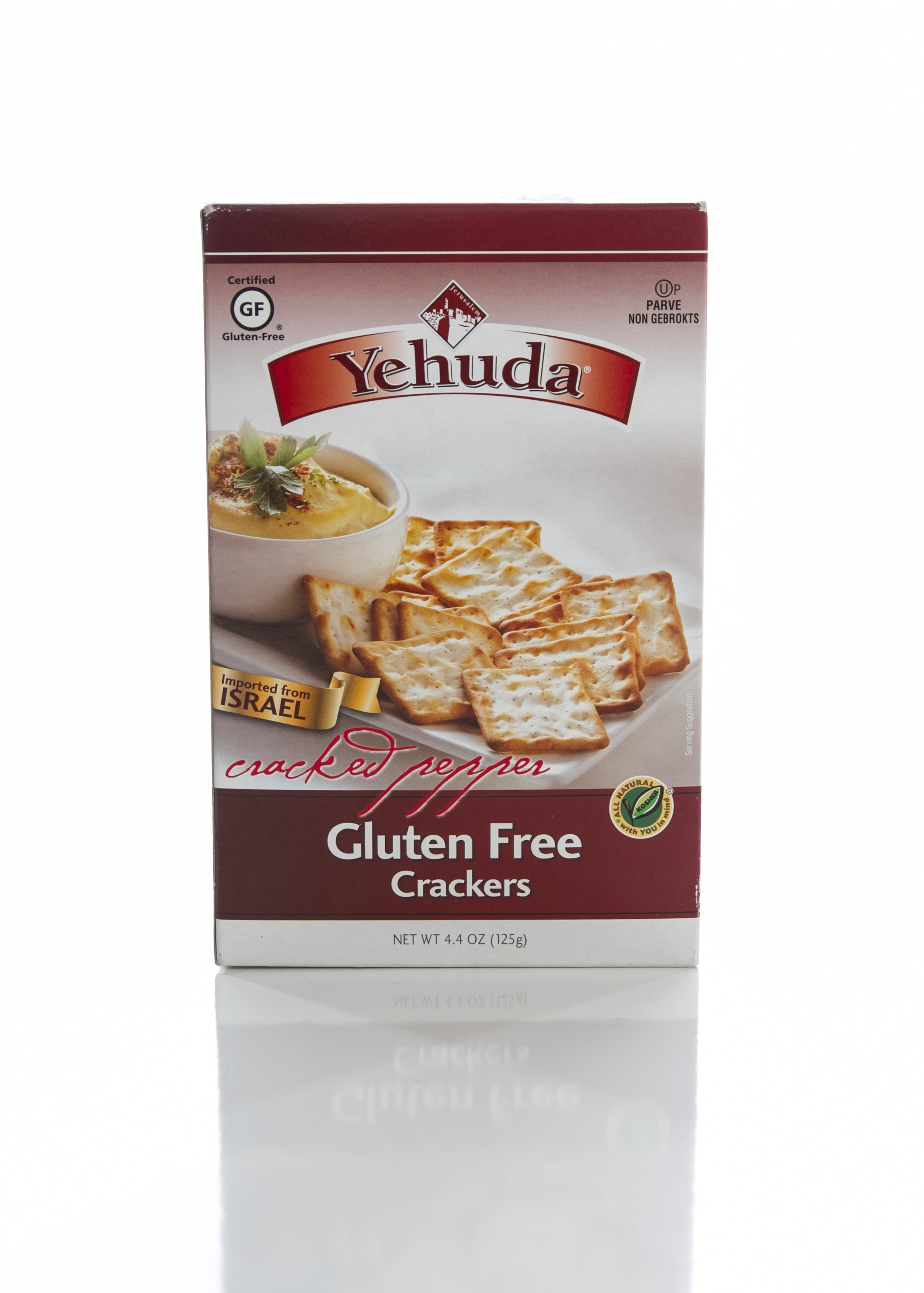 Yehuda Gluten Free Cracked Pepper Cracker, 4.4 Oz. Box (6 Per Case)