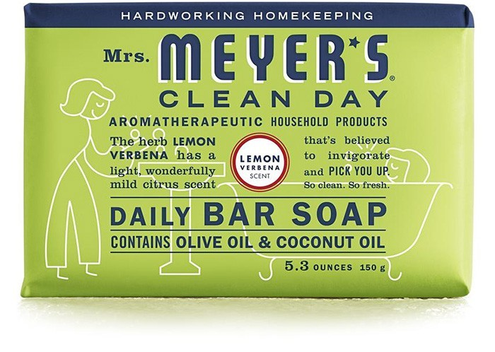 Mrs. Meyer's Clean Day Daily Bar Soap, Lemon Verbena, 5.3 Oz