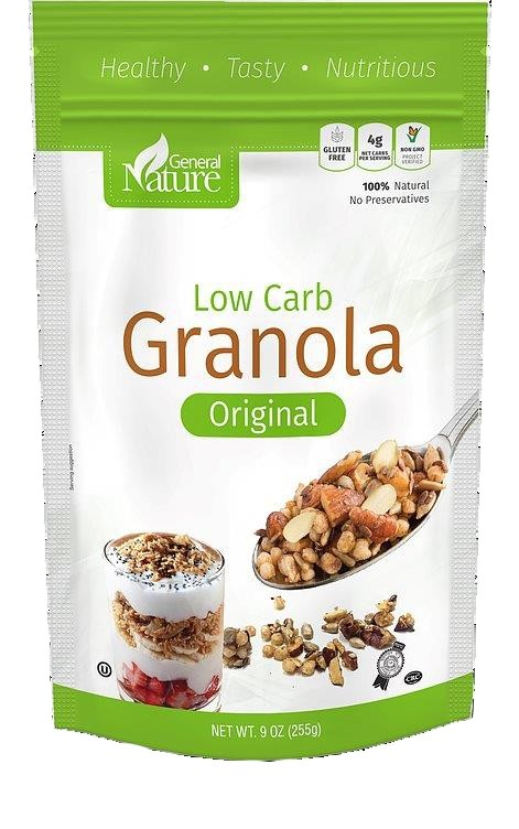 General Nature Gluten Free Low Carb Granola, 9 oz. (Pack of 6)