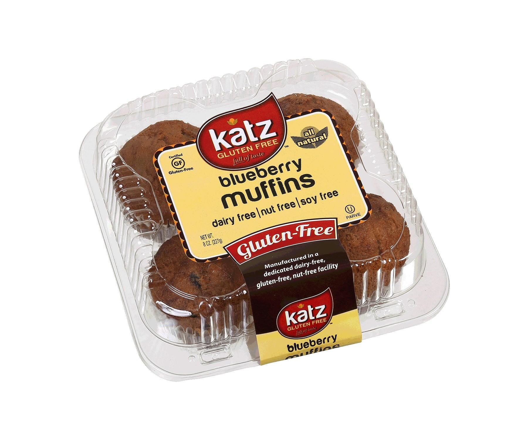 Katz Gluten Free Blueberry Muffins (Case of 6)