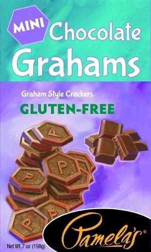 Pamela's Gluten Free Mini Grahams, Chocolate, 7 Oz [6 Pack]
