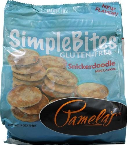 Pamela's Gluten Free SimpleBites, Snickerdoodle Mini Cookies, 7 Oz [Case of 6]