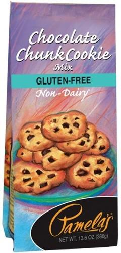 Pamela's Gluten Free Chocolate Chunk Cookie Mix, 13.6 Oz [6 Pack]