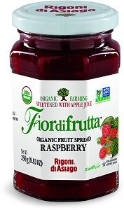 Fiordifrutta Organic Jam Spread, Raspberry, 8.82 OZ (Case of 6)
