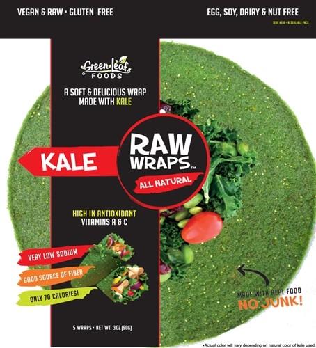 Raw Wraps, Kale [Case of 6]