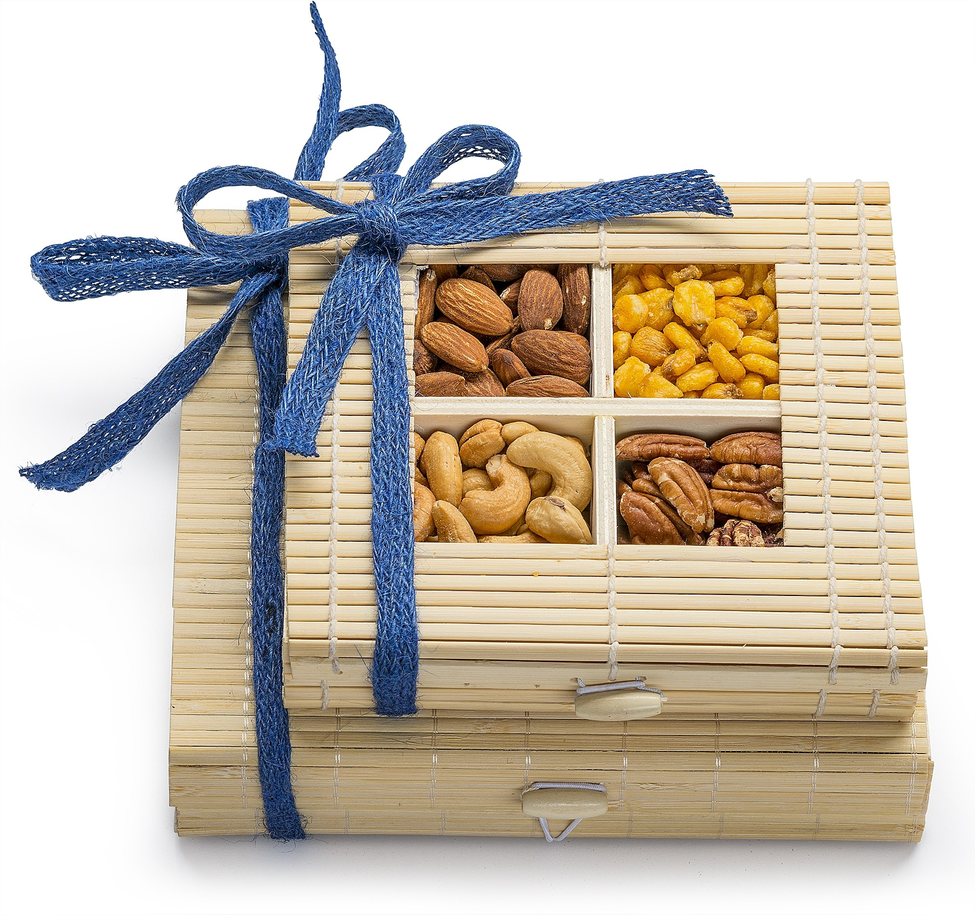 Simply Crave Nuts Gift Basket, Gourmet Food Gift, Nuts Tray Gift Assortment, Classic Double Stacker