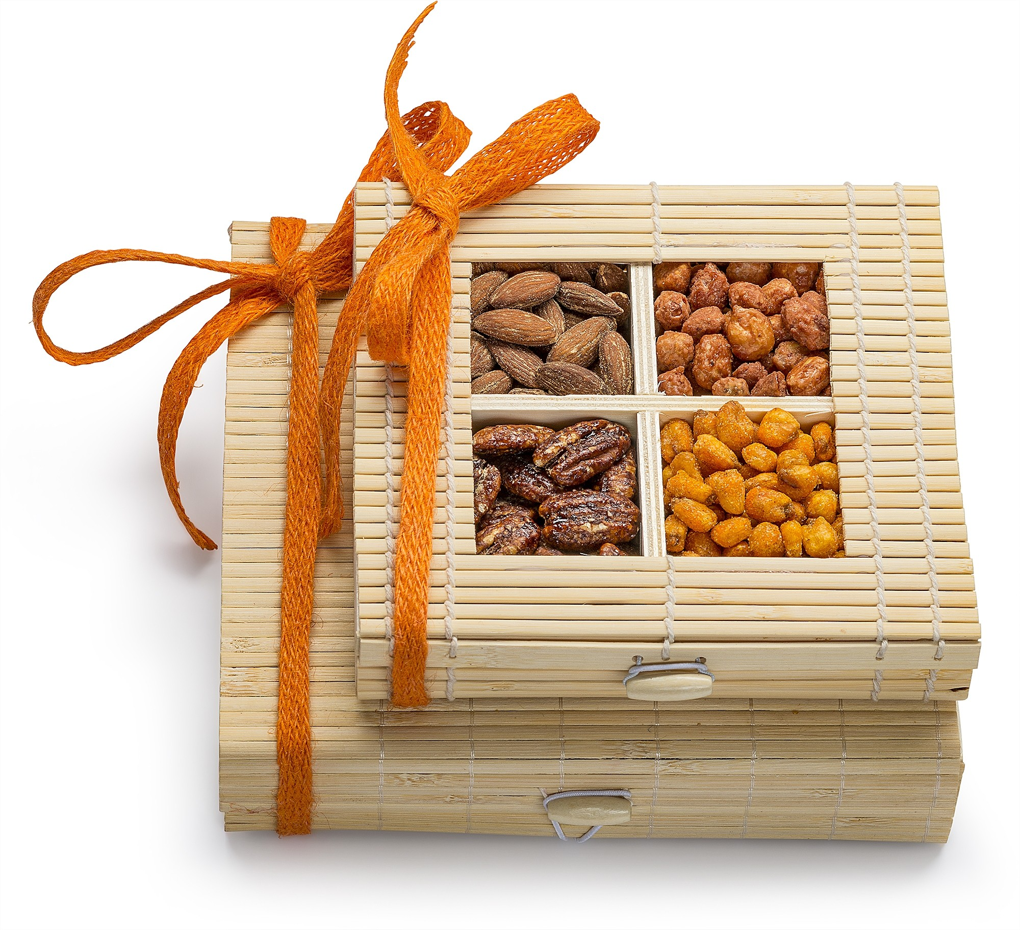 Simply Crave Nuts Gift Basket, Gourmet Food Gift, Nuts Tray Gift Assortment, Sweet & Savory Double Stacker