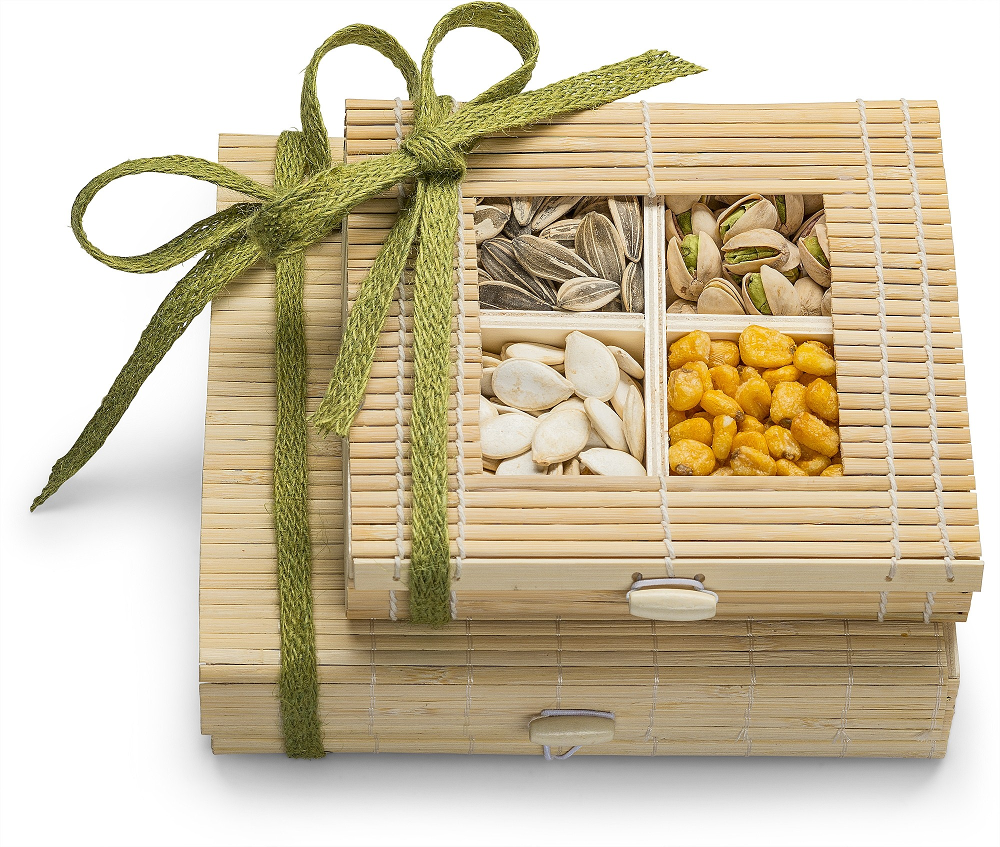 Simply Crave Nuts Gift Basket, Gourmet Food Gift, Nuts Tray Gift Assortment, Nuts & Seeds Double Stacker
