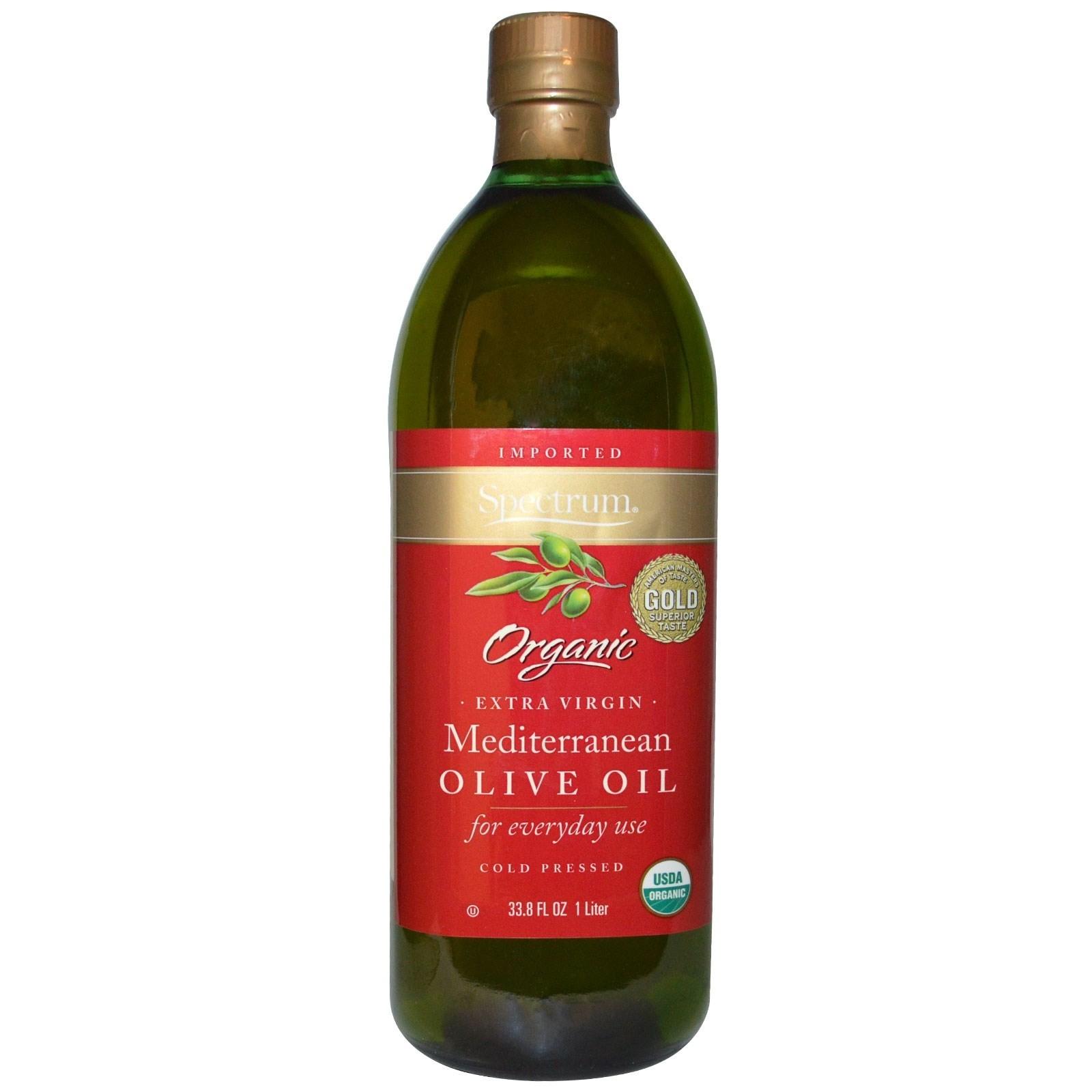 Spectrum Naturals Organic Extra Gluten Free Virgin Olive Oil, Mediteranean, 33.8 Oz