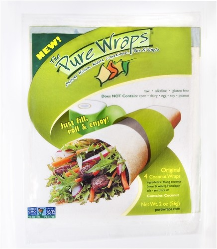 The Pure Wraps, Original Coconut Wraps [12 pack]