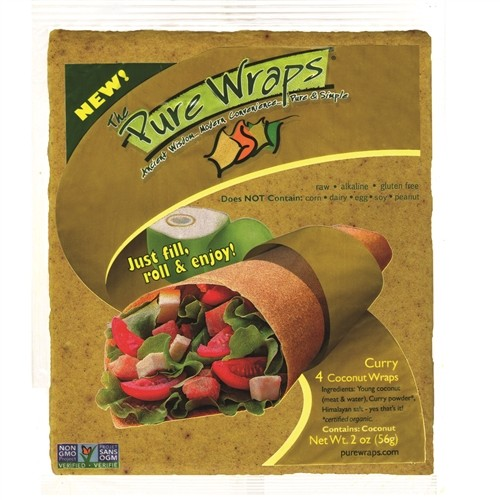 The Pure Wraps, Curry Coconut Wraps [6 pack]