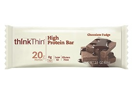 Think Thin High Protein Bars, Chocolate Fudge, 2.1 oz [10 Pack]