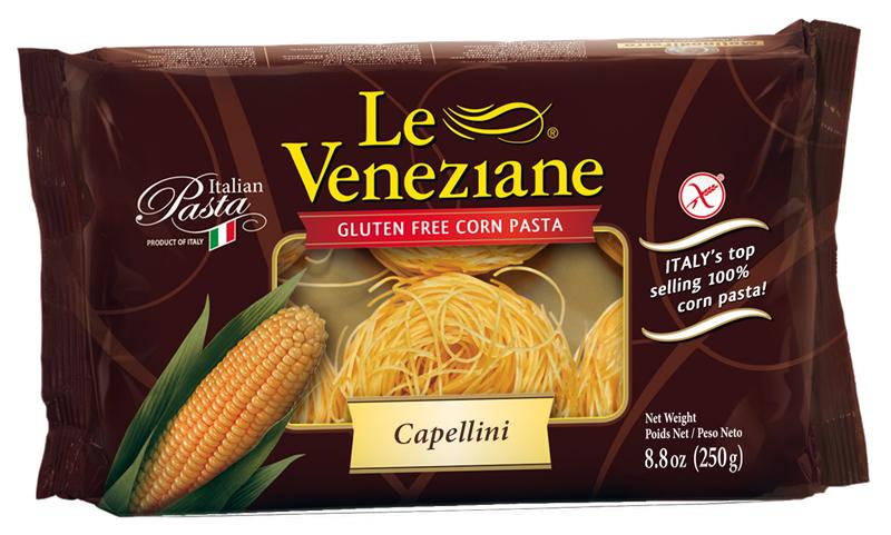 Le Veneziane Gluten Free Corn Pasta Capellini - Case of 12