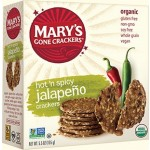 Mary's Gone Gluten Free Crackers, Jalapeno, 5.5 Oz. Boxes (Pack of 12)