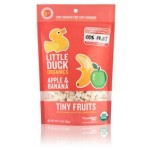Little Duck Organics Gluten Free Tiny Fruit, Apple & Banana, 1 oz. Pack (6 Packs)