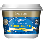 Spectrum Naturals Organic All Vegetable Gluten Free Shortening, 24 Oz [3 Pack]
