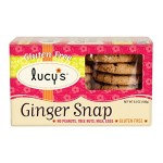 Lucy's Ginger Snap Gluten Free Cookies, 5.5 Oz [Case of 8]