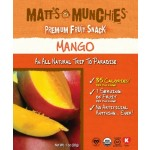 Matt's Munchies, Gluten Free Mango Fruit Snack, 1 Oz Pack (Case of 12)