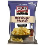 Boulder Gluten Free Canyon Malt Vinegar & Sea Salt Kettle Chips, 5 Oz Bag (12 Pack)