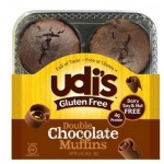 Udi's Gluten Free Double Chocolate Muffins - Case of 6