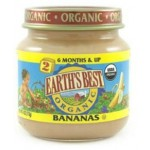 Earth's Best, Stage #2, Gluten Free Second Fruits Strained Bananas, 4 Oz Jar (Case of 12)
