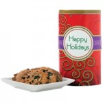 Happy Holidays! Red Tall Gluten Free Gift Tin