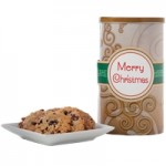 Happy Holidays! Brown Tall Gluten Free Gift Tin