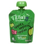 Ella's Kitchen Gluten Free Organic Baby Food - Apples, Apples, Apples, 2.5 Oz (6 Pouches)