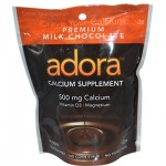 Adora Calcium Supplement Milk Chocolate, 500 mg - 30 Chewables (Case of 12)