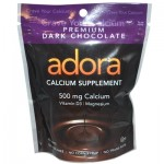 Adora Dark Chocolate Calcium Supplement - 30 Chewables (Case of 12)