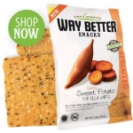 Way Better Snacks, Gluten Free Sweet Potato Tortilla Chips, 1.25 oz bag (Case of 12)