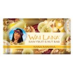 Wai Lana Raw Gluten Free Fruit & Nut Bar, Nana Banana, 2 Oz Pack (Case of 12)